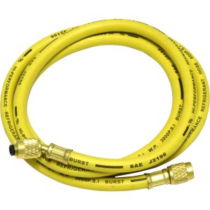 Yellow 60'' hose with standard fittings for R12