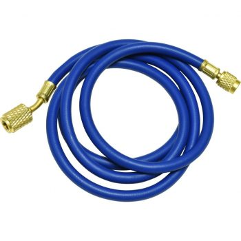 "blue 60"" hose with auto shut-off valve fittings for R12"