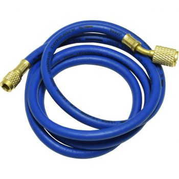 "blue 72"" hose with auto shut-off valve fittings for R12"