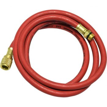 "red 60"" hose with male 14mm x 1.5 and 1/2"" Acme-Fittings for R-134a"