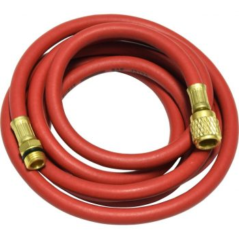 "red 96"" hose with male 14mm x 1.5 and 1/2"" Acme-Fittings for R-134a"
