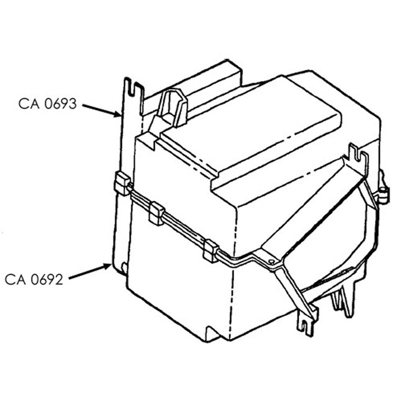 Evaporator Case TOY CASE BOTTOM